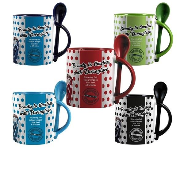 Duraglaze® 11oz Soup & Spoon Two Tone PhotoMug