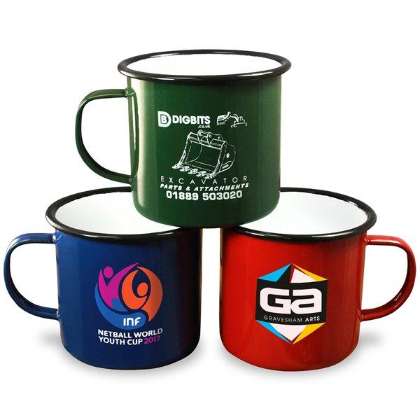 Premium Enamel Mugs 20oz/568ml (Coloured)